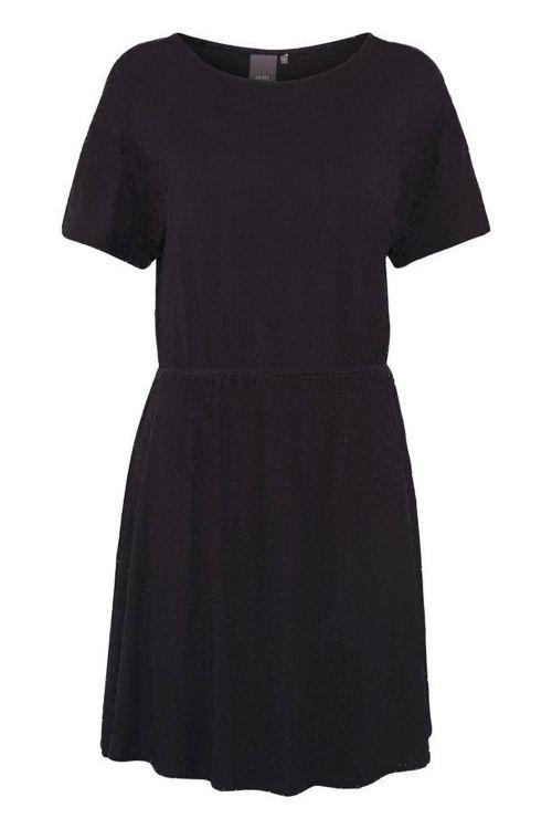 Ichi Kjole IH Lisa Dress6 Black Solid Front