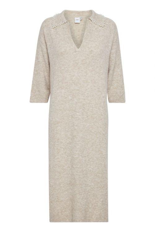 Ichi  - Kjole - IH Macon Dress - Oatmeal Melange