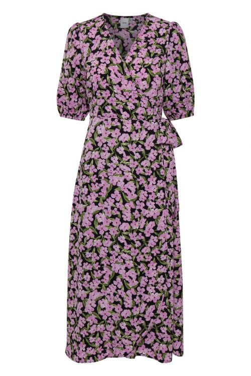 Ichi - Kjole - Orchid DR - Violet Tulle Print