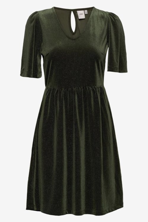 Ichi Kjole IH Rianna Dress Kombu Green Front