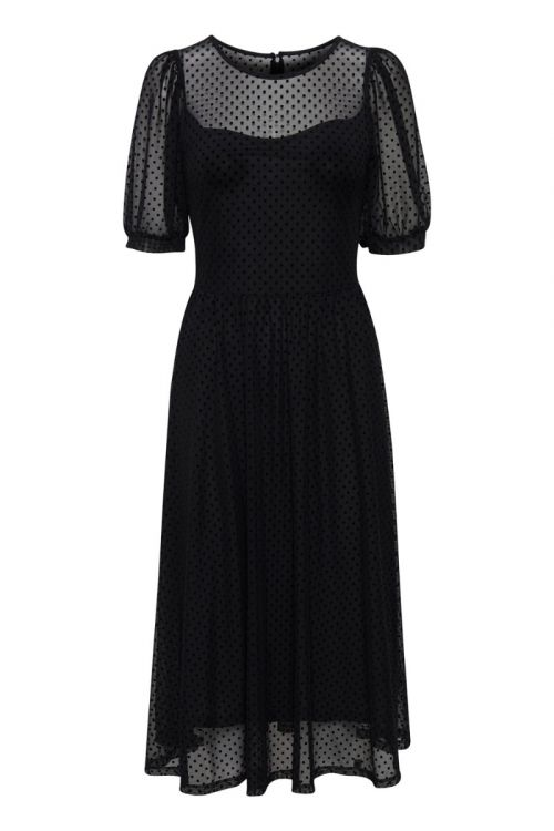 Ichi - Kjole - IH Spottie Dress - Black