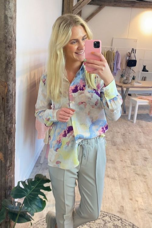 Ichi - Skjorte - IH Cloudy Shirt - Multi Color