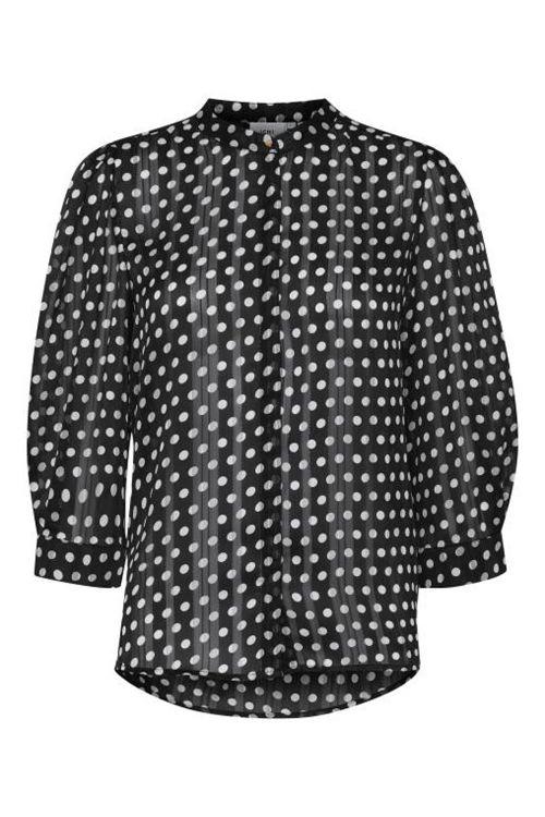 Ichi Skjorte Donna MS2 Black Front