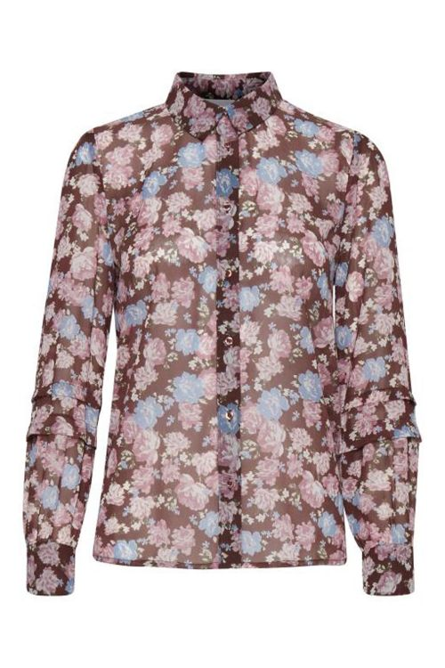 Ichi Skjorte IH Earlena Shirt Cappucino Front