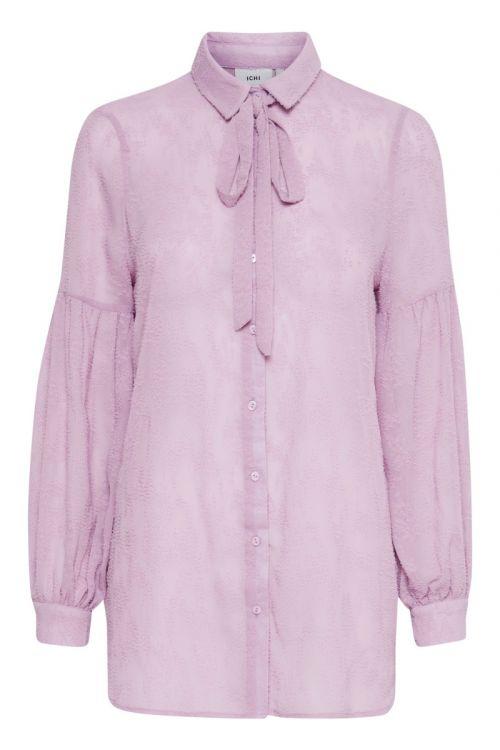 Ichi Skjorte Elissa SH Lavender Herb Front