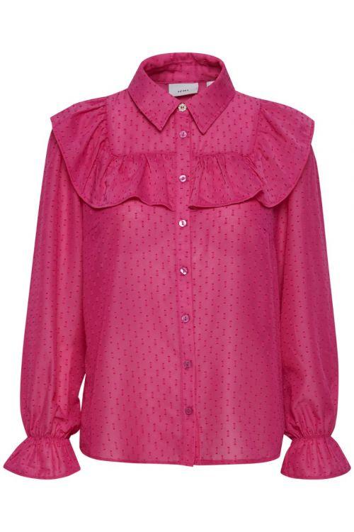 Ichi Skjorte IX Josa Shirt Shocking Pink Front