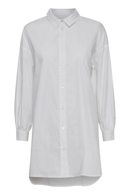 Ichi Skjorte Tesse Long Shirt Bright White Front