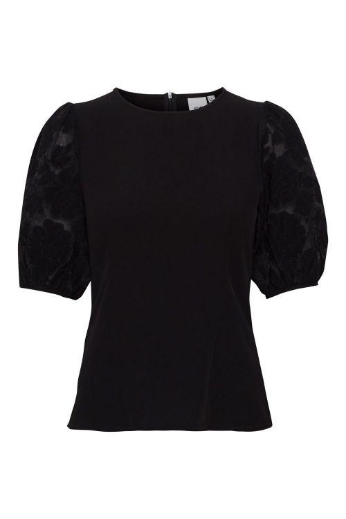 Ichi T-shirt IH Hanzila SS Black Front