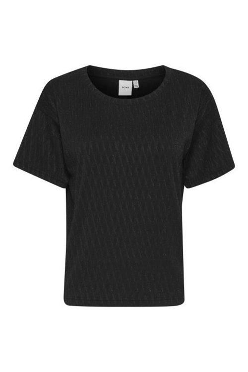 Ichi T-shirt IH Tanae SS Black Front