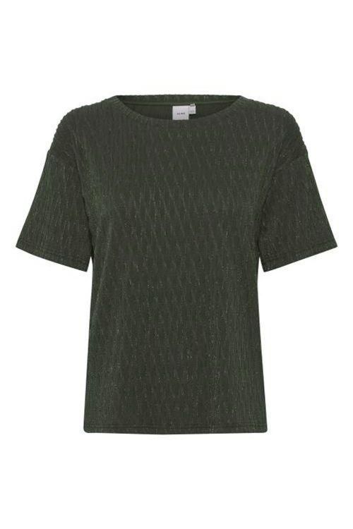 Ichi T-shirt IH Tanae SS Kombu Green Front