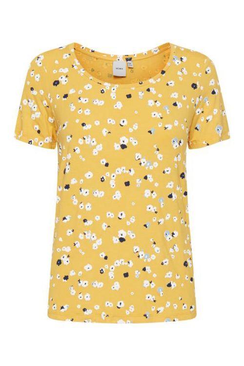 Ichi T-shirt Lisa SS3 Buff Yellow Front