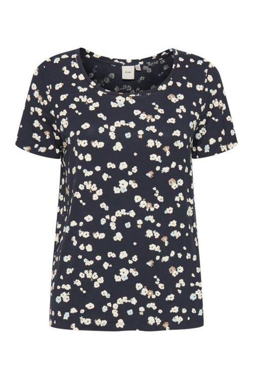 Ichi T-shirt Lisa SS3 Cool Blue Front