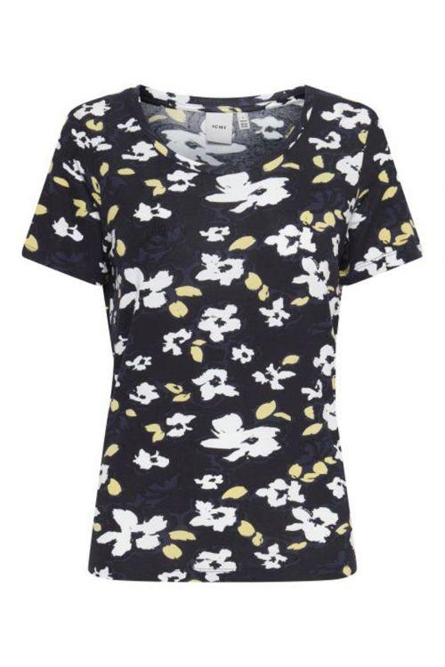 Ichi T-shirt IH Lisa SS4 Black Print Front