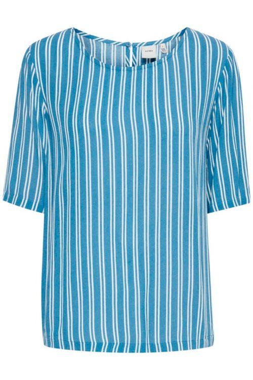 Ichi - T-shirt - Marrakech AOP SS3 - Coronet Blue