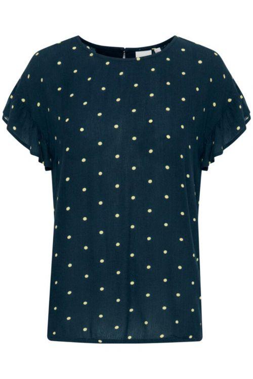 Ichi - T-shirt - Marrakech AOP SS4 - Total Eclipse Dot