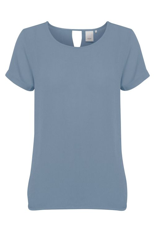 Ichi T-shirt IH Marrakech SO SS Blue Mirage Front