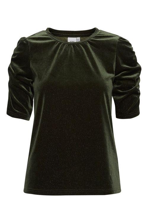 Ichi T-shirt IH Rianna SS Kombu Green Front