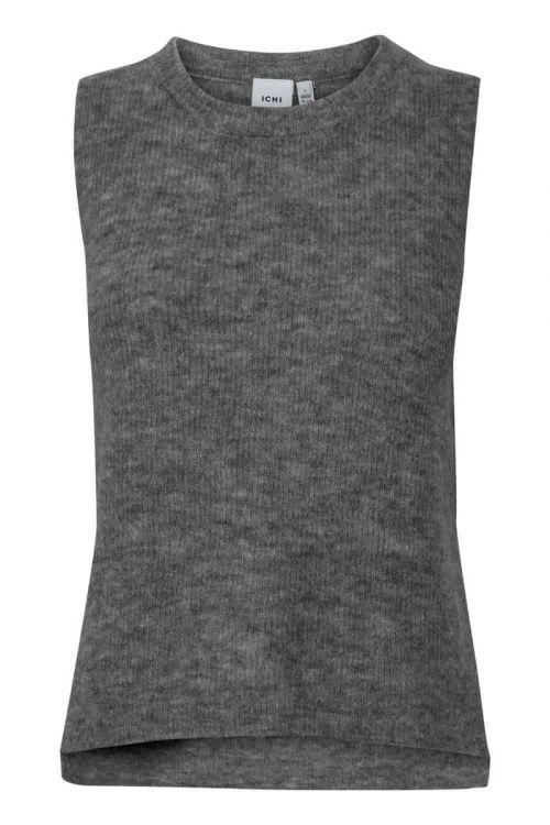Ichi - Vest - Jordan WA - Dark Grey Melange