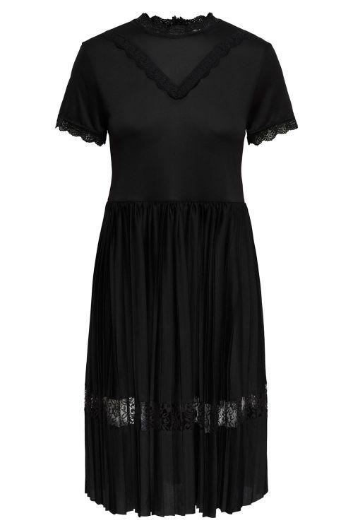 Jacqueline de Yong Kjole JDY Gemma S/S Short Dress Black Front
