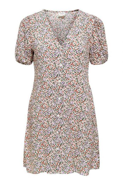 Jacqueline de Yong - Kjole - Staar Life SS Shirt Dress - Cloud Dancer