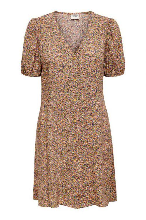 Jacqueline de Yong - Kjole - Staar Life SS Shirt Dress - Fall Leaf
