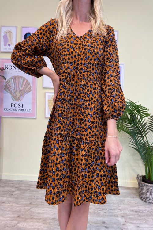 Jacqueline De Young  Kjole  Claude  7/8 V-Neck Dress  Jrs  Honey Ginger Front