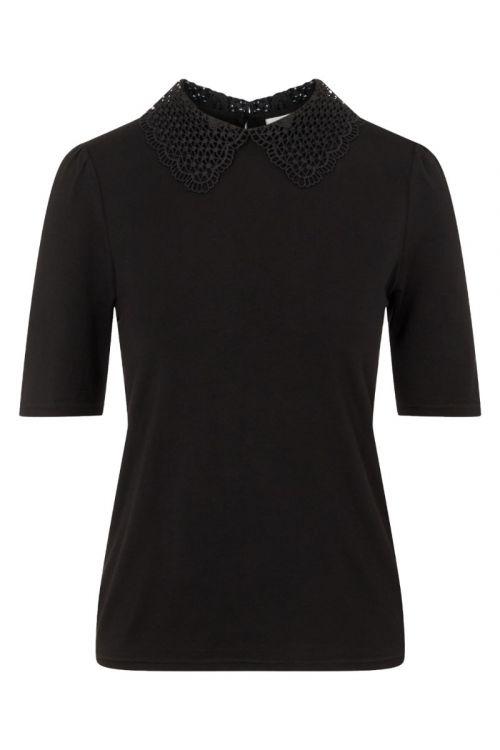 Jacqueline de Yong - Bluse - JDY Abie 2/4 Collar Top - Black