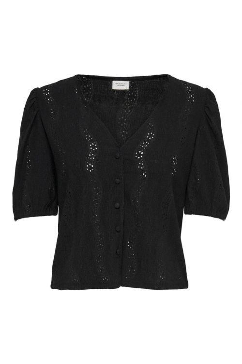 Jacqueline de Yong - Bluse - JDY Carmen 2/4 Button Top - Black