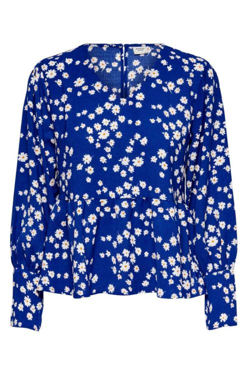 Jacqueline De Yong - Bluse - Malta L/S Top - Blue Lolite