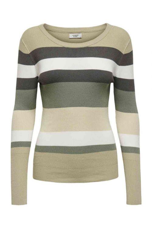 JDY - Bluse - Petal LS Stripe Pullover - Sea Spray