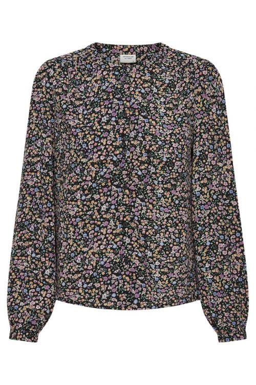 Jacqueline de Yong - Bluse - JDY Piper LS Shirt - Black/Vibrant SM