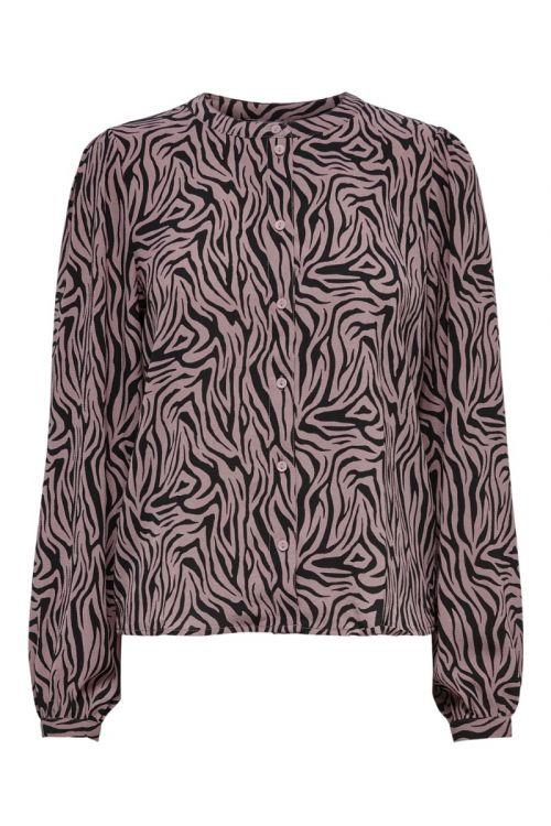 Jacqueline de Yong - Bluse - JDY Piper LS Shirt - Black/woodrose