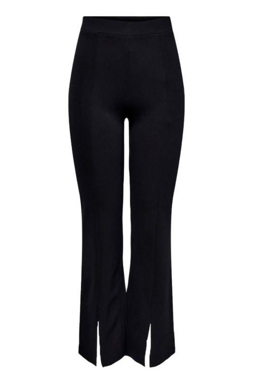 Jacqueline de Yong - Bukser - JDY Pretty Flare Slit Pant - Black