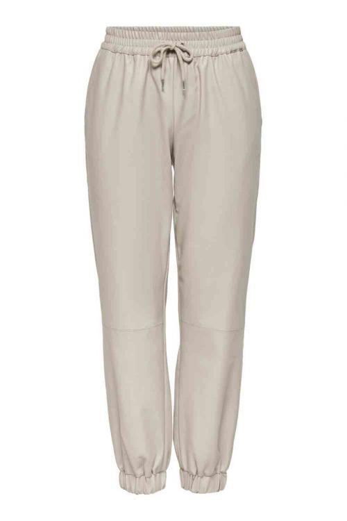 JDY - Bukser - Wilma Faux Leather Ankle Pant - Chateau Gray