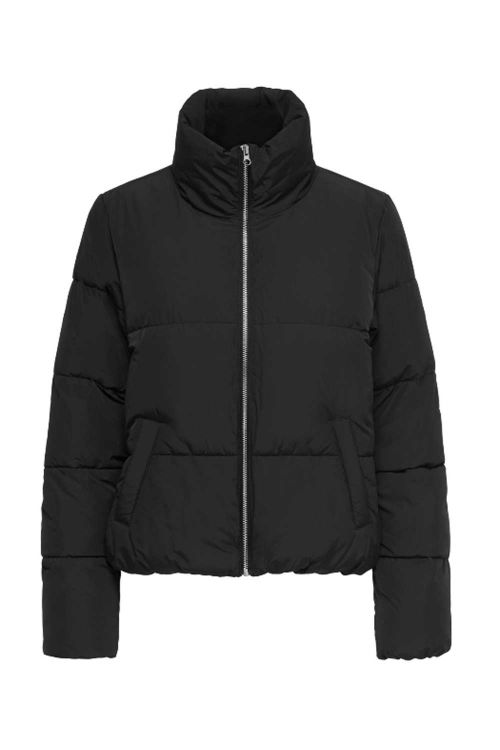 Jacqueline de Yong Jakke JDY New Erica Short Padded Jacket Black Front
