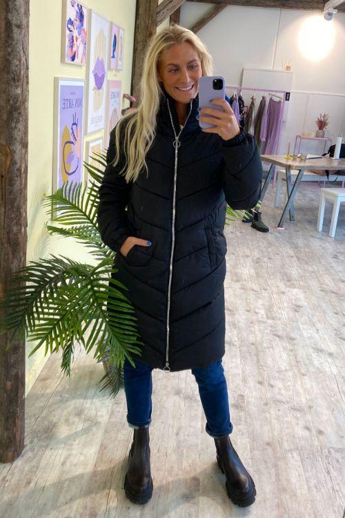 Jacqueline de Yong - Jakke - JDY New Finno Long Padded Jacket - Black