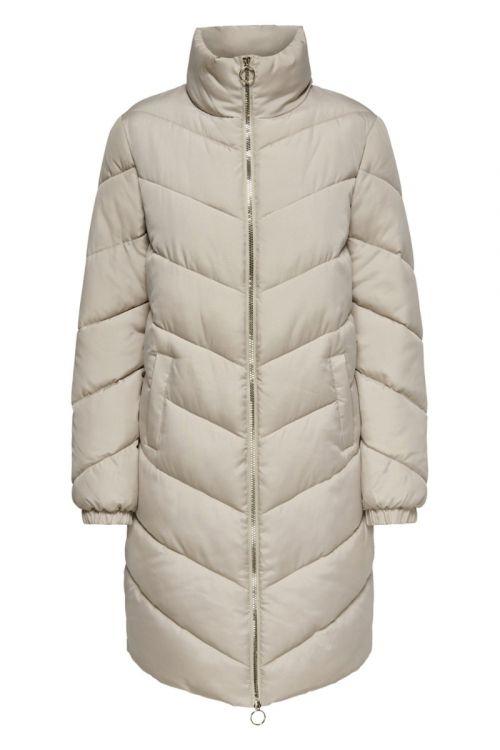 Jacqueline de Yong - Jakke - JDY New Finno Long Padded Jacket - Simply Taupe