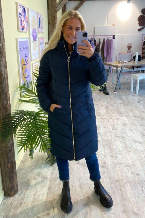 Jacqueline de Yong - Jakke - JDY New Finno Long Padded Jacket - Sky Captain