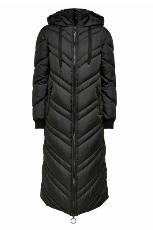 Jacqueline de Yong - Jakke - Sky X-Long Padded Hood Jacket - Black