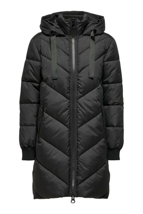 Jacqueline De Young - Jakke - JDY Skylar Padded Hood Jacket - Black