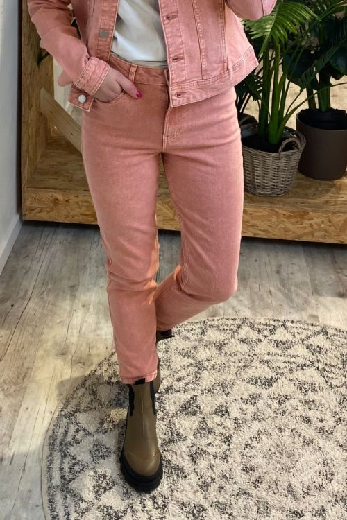 Jaqueline de Yong - Jeans - JDY Windy Life High Straight Ankle Pants - Old Rose