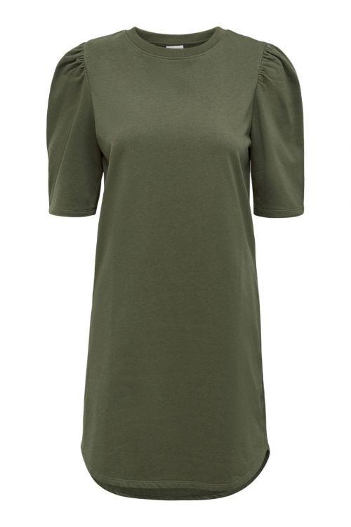 Jacqueline de Yong - Kjole - JDY Bine Ivy Life 2/4 Puff Dress - Kalamata