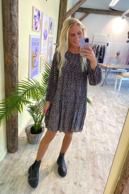 Jacqueline de Yong - Kjole - JDY Boa 3/4 Short Dress - Smoke Green