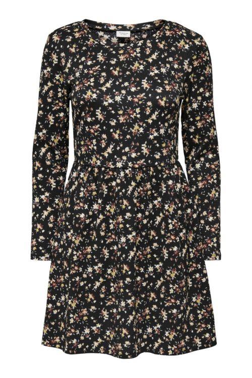 Jacqueline de Yong - Kjole - JDY Claude LS Dress - Black/Multi Flower