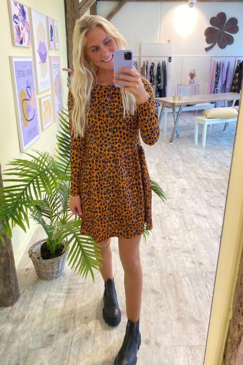 Jacqueline de Yong - Kjole - JDY Claude LS Dress - Honey Ginger
