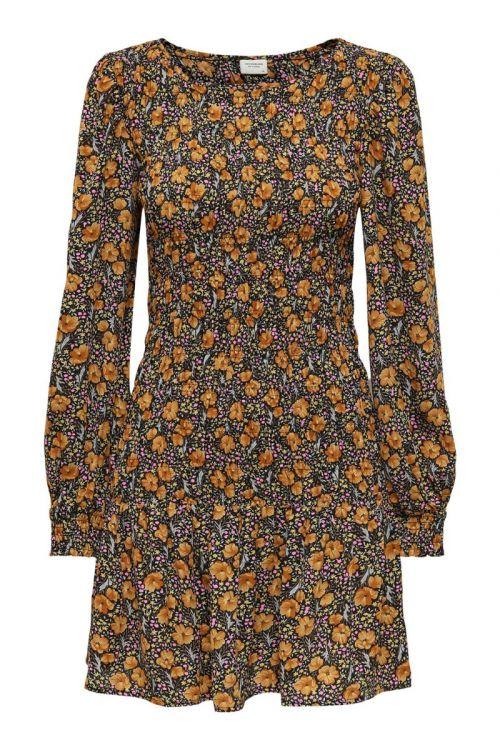 Jacqueline de Yong Kjole JDY Drew Life LS Dress Black Front