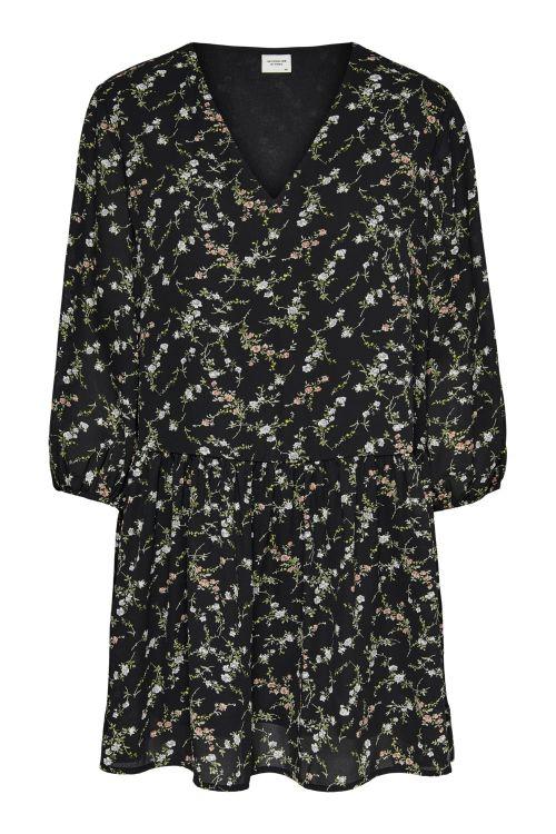 Jacqueline de Yong Kjole JDY Ellen 3/4 Dress black/Multicolor Flower Front