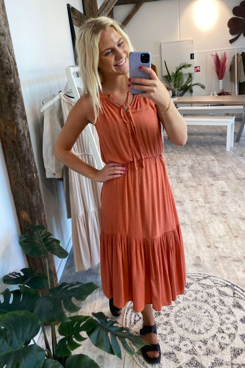 Jacqueline de Yong Kjole JDY Lima Life Dress Bruschetta Hover