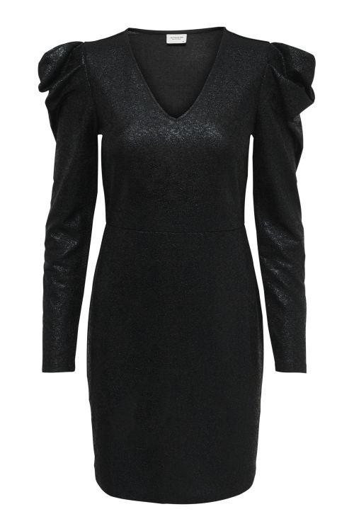 Jacqueline de Yong Kjole JDY Missy L/S Puff Sleeve Dress Black/Black Front