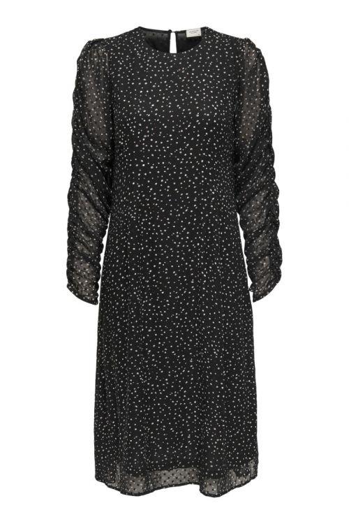 Jacqueline De Yong Kjole Kylie 3/4 Above Calf Dress Black Front